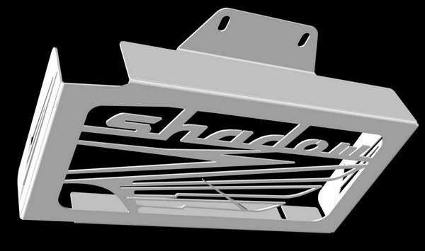 cache radiateur//grille de radiateur VT 125 Shadow design Wing grillage noir